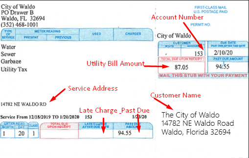 City Sample Water Bill